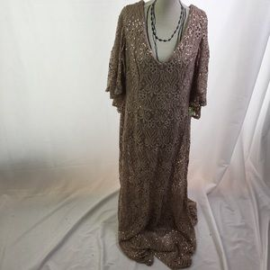 Blu Sage Sequin Gown Taupe 12